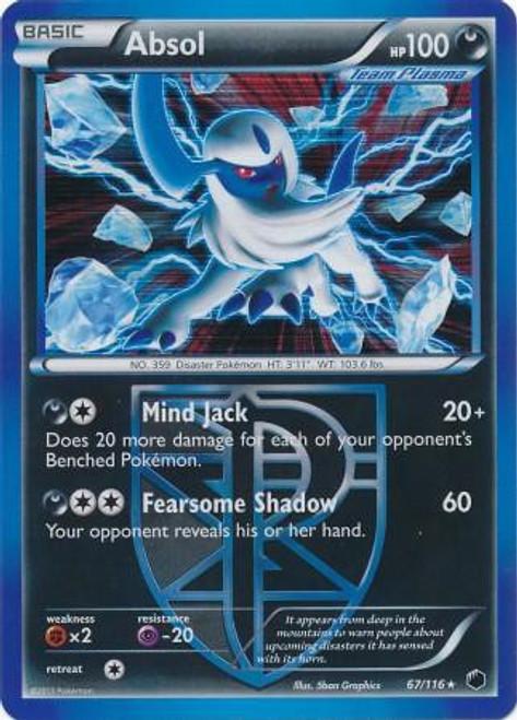 Pokemon Black & White Plasma Freeze Rare Holo Absol #67