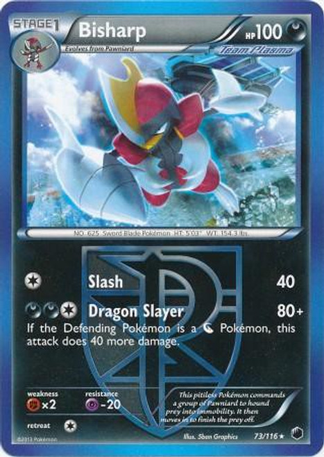 Pokemon Black & White Plasma Freeze Rare Bisharp #73