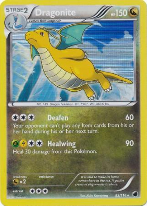 Pokemon Black & White Plasma Freeze Rare Holo Dragonite #83