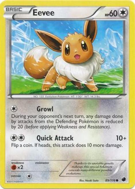 Pokemon Black & White Plasma Freeze Common Eevee #89