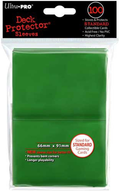 Ultra Pro Card Supplies Deck Protector Green Standard Card Sleeves [100 Count]