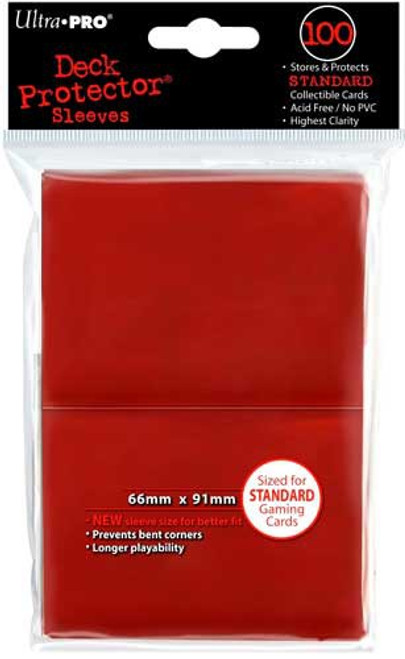 Ultra Pro Card Supplies Deck Protector Red Standard Card Sleeves [100 Count]