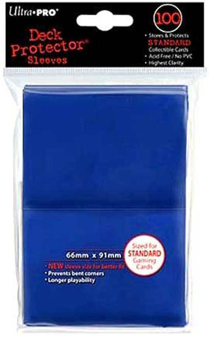Ultra Pro Card Supplies Deck Protector Blue Standard Card Sleeves [100 Count]