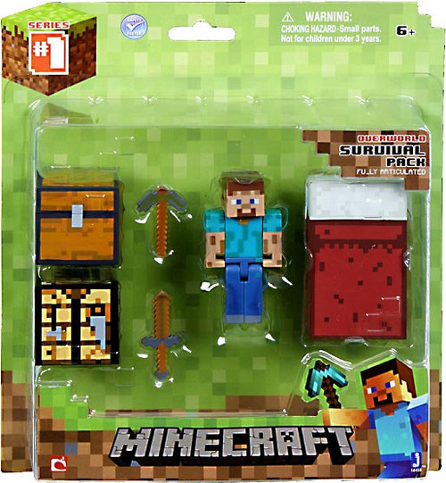 Minecraft Series 1 Survival Pack Action Figure Set [Overworld]