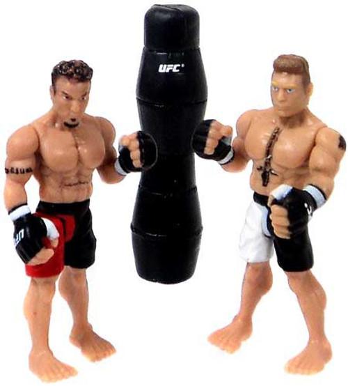 UFC Ultimate Micro Fighters Series 1 Brock Lesnar vs. Frank Mir Mini Figure 2-Pack [UFC 100, Loose]