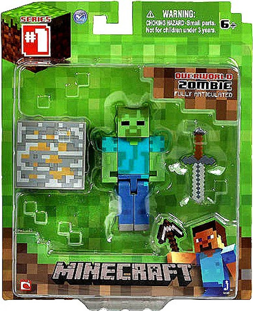 Minecraft Series 1 Zombie Action Figure [Overworld]