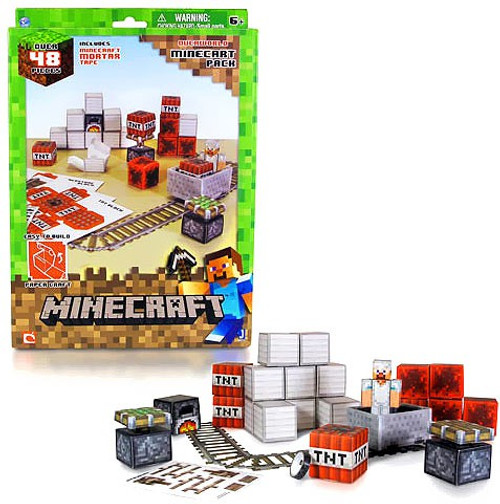 Minecraft Minecart Set Papercraft