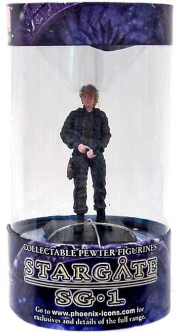 """Stargate SG-1 Series 1 Samantha """"Sam"""" Carter Pewter Figure [Black Ops]"""
