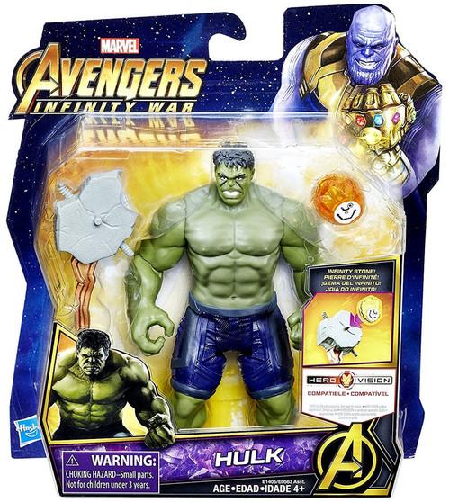 Marvel Avengers Infinity War Hulk Deluxe Action Figure [with Infinity Stone]