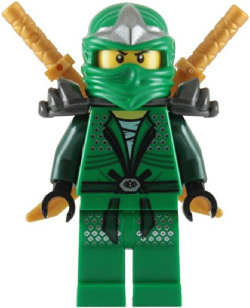 LEGO Ninjago Lloyd ZX With Dual Gold katanas Minifigure [Green Loose]