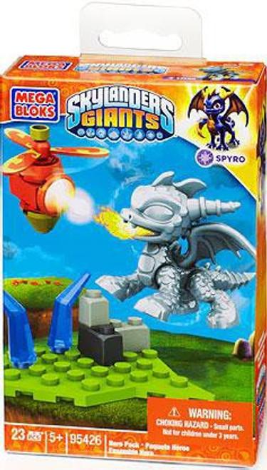 Mega Bloks Skylanders Giants Hero Packs Silver Metallic Spyro Hero Pack Set #95426