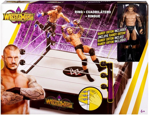 WWE Wrestling WrestleMania 34 Ring Playset [Randy Orton Action Figure]