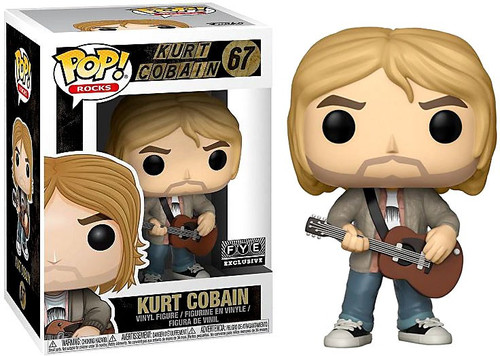 Funko Nirvana POP! Rocks Kurt Cobain Exclusive Vinyl Figure #67 [Brown Guitar, MTV Unplugged]