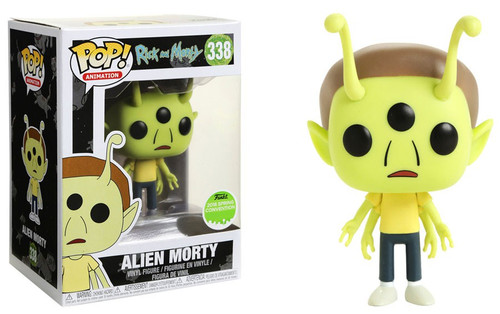 Funko Rick & Morty POP! Animation Alien Morty Exclusive Vinyl Figure #338