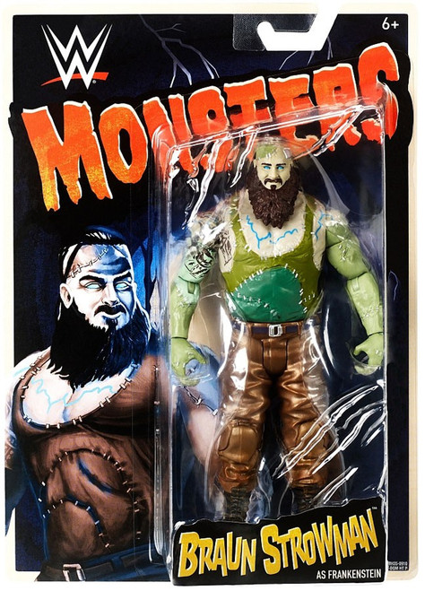 WWE Wrestling Monsters Braun Strowman as Frankenstein Action Figure