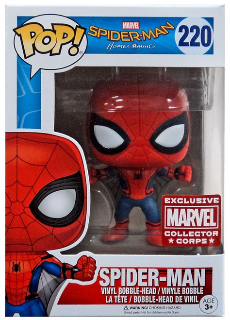 Funko POP! Marvel Spider-Man Exclusive Vinyl Bobble Head #220 [Homecoming, Damaged Package]