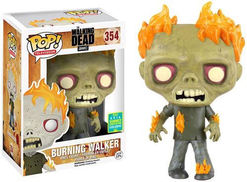 Funko The Walking Dead POP! TV Burning Walker Exclusive Vinyl Figure #354 [Damaged Package]