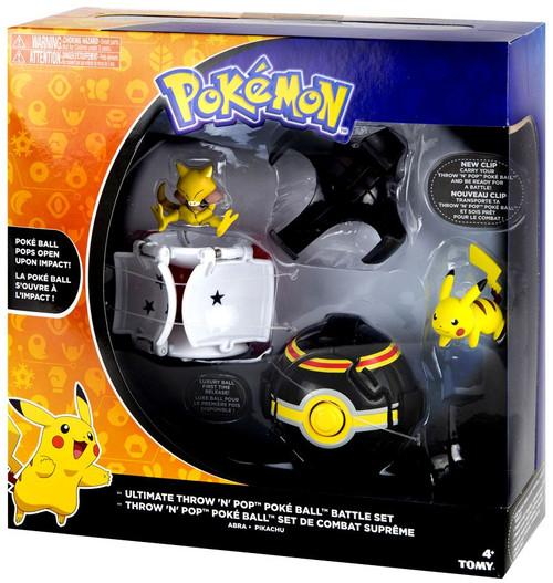 Pokemon Throw 'n' Pop Pokeball Ultimate Throw 'N' Pop Poke Ball Battle Set [Pikachu & Abra]
