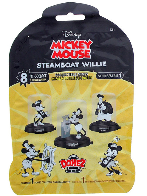 Domez Mickey Mouse Steamboat Willie Mystery Pack [1 RANDOM Figure]