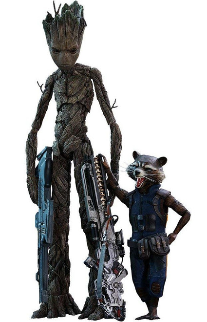 Marvel Avengers Infinity War Movie Masterpiece Groot & Rocket Raccoon Collectible Figure MMS476 [Infinity War]