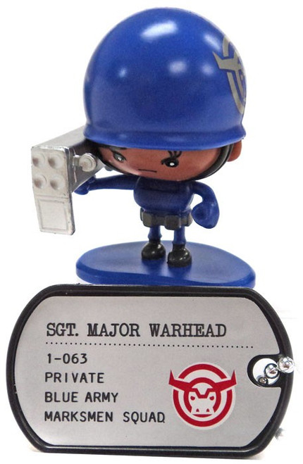Awesome Little Green Men Sgt. Major Warhead Common PVC Figure #1-063 [Marksmen Squad Loose]