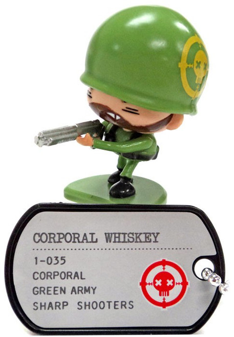 Awesome Little Green Men Corporal Whiskey Common PVC Figure #1-035 [Sharp Shooters Loose]