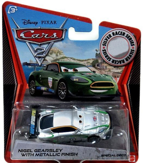 Disney / Pixar Cars Cars 2 Silver Racer Series Nigel Gearsley with Metallic Finish Exclusive Diecast Car