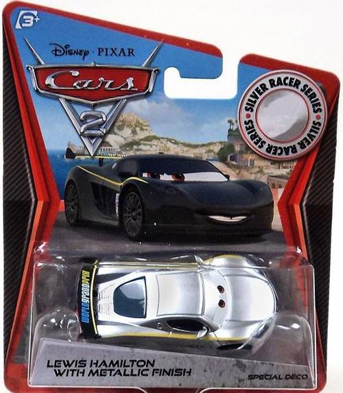 Disney / Pixar Cars Cars 2 Silver Racer Series Lewis Hamilton with Metallic Finish Exclusive Diecast Car