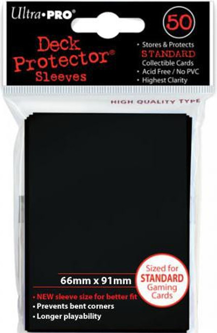 Ultra Pro Card Supplies Deck Protector Black Standard Card Sleeves [50 Count]