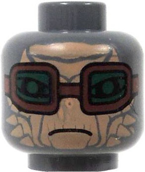 Star Wars Gray Alien Tan Face Green Goggles Minifigure Head [Loose]