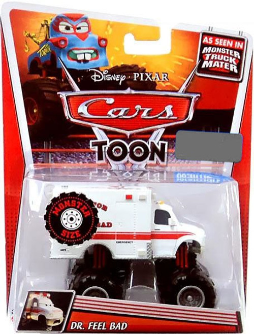 Disney / Pixar Cars Cars Toon Deluxe Oversized Dr. Feel Bad Exclusive Diecast Car [Monster Size]