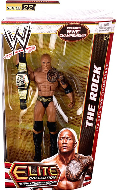 WWE Wrestling Elite Collection Series 22 The Rock Action Figure [WWE Championship Belt]