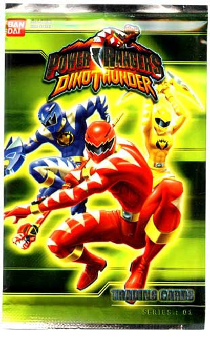 Power Rangers Dino Thunder Series 1 Trading Card Pack [7 Cards]