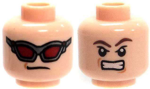 Light Flesh with Red Goggles / No Goggles Snarling Head [Dual-Sided Print Loose]