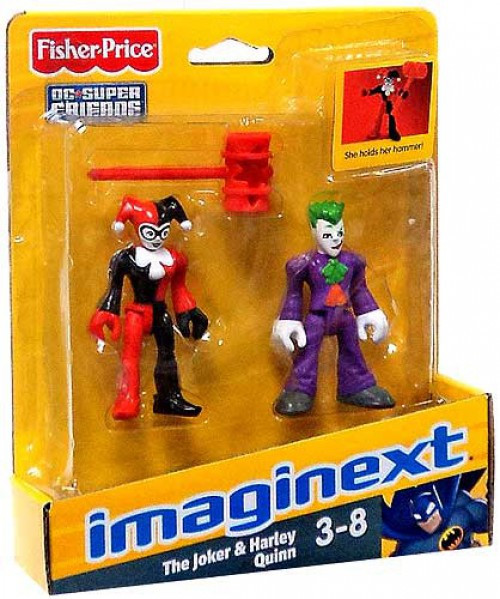 Fisher Price DC Super Friends Imaginext The Joker & Harley Quinn 3-Inch Mini Figures