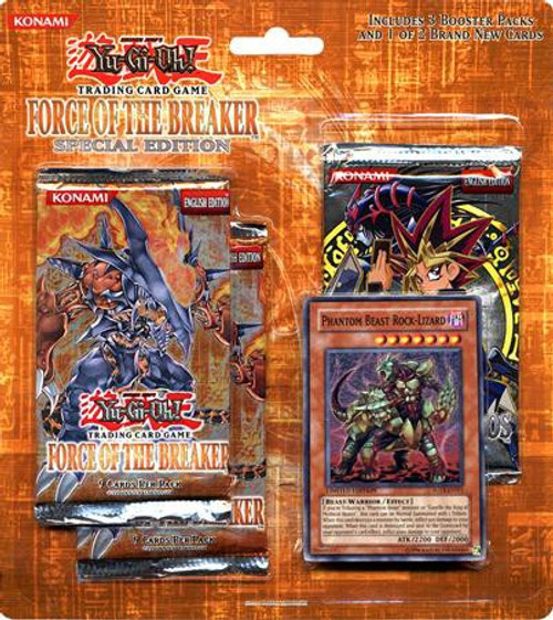 YuGiOh Trading Card Game Force of the Breaker Special Edition [Phantom Beast Rock-Lizard]