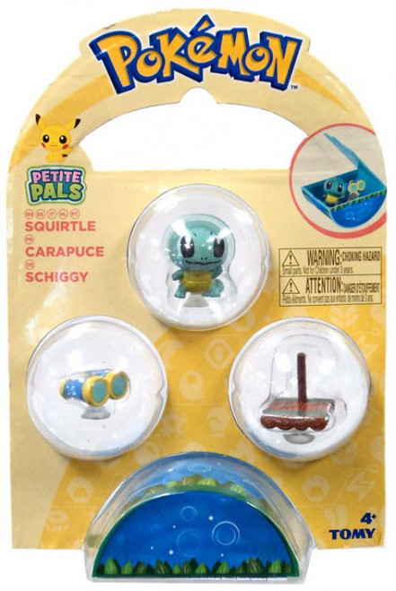 Pokemon Petite Pals Squirtle Mini Figure 3-Pack
