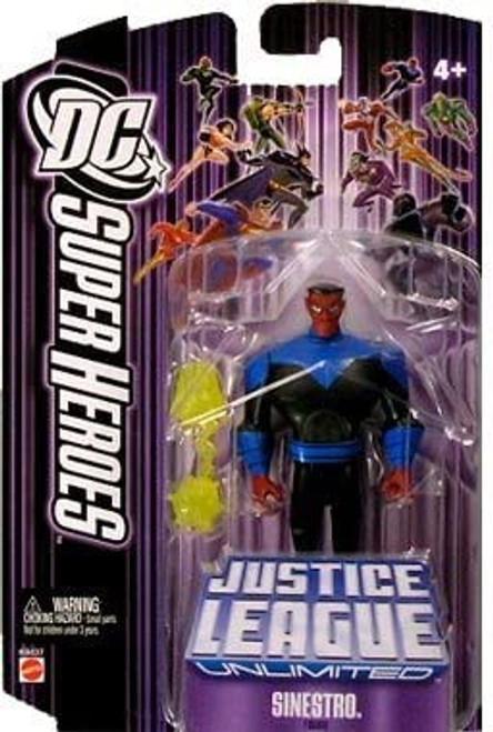DC Justice League Unlimited Super Heroes Sinestro Action Figure