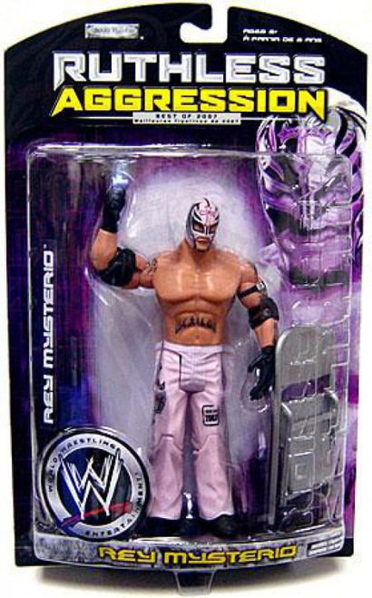 WWE Wrestling Ruthless Aggression Best of 2007 Series 1 Rey Mysterio Action Figure [Pink Mask]
