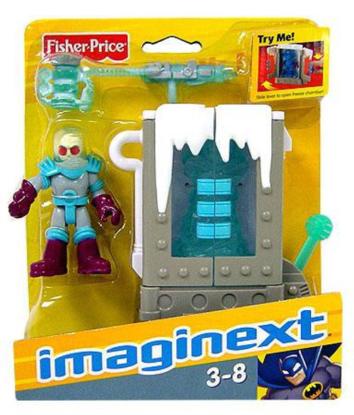 Fisher Price DC Super Friends Imaginext Mr. Freeze & Chamber 3-Inch Figure Set