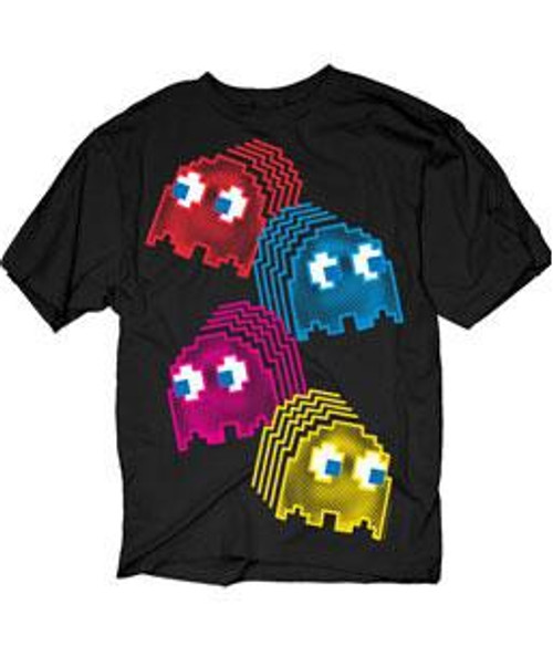 Pac Man Neon Ghosts T-Shirt [Adult Small]