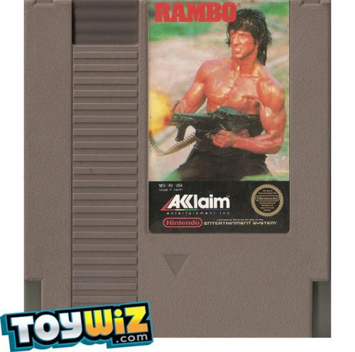 Nintendo NES Rambo Video Game Cartridge [Played Condition]