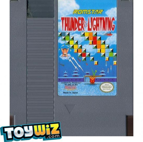 Nintendo NES Thunder & Lightning Video Game Cartridge [Played Condition]