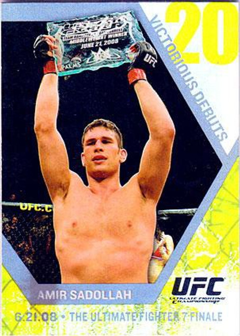 Topps UFC 2009 Round 2 Fighter Victorious Debuts Amir Sadollah VD17 [Ultimate Fighter 7 Finale]