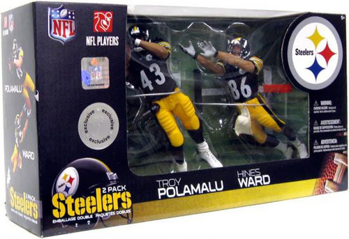 McFarlane Toys NFL Pittsburgh Steelers Sports Picks Hines Ward & Troy Polamalu Exclusive Action Figure 2-Pack