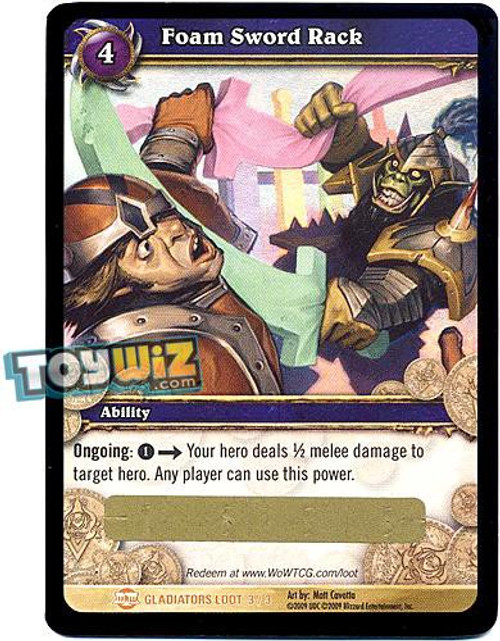 World of Warcraft Trading Card Game Blood of Gladiators Legendary Loot Foam Sword Rack #3