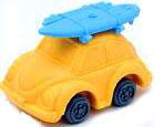 Iwako Beetle Car Eraser [Yellow Car & Blue Surfboard]