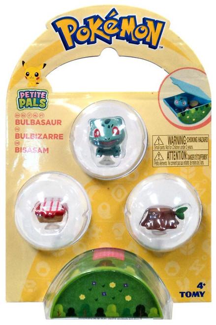 Pokemon Petite Pals Bulbasaur Mini Figure 3-Pack