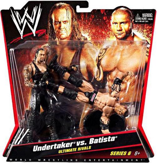 WWE Wrestling Battle Pack Series 6 Undertaker vs. Batista Action Figure 2-Pack