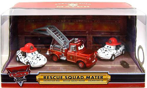 Disney / Pixar Cars Cars Toon Multi-Packs Rescue Squad in Light Up 3-Pack Exclusive Diecast Car Set